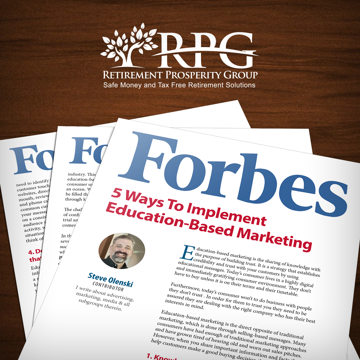 RPG in Forbes Magazine: 5 Ways To Implement Education-Based Marketing