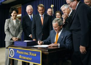 President Bush, Pension Plan Act 2006, Long Term Care, Insurance, Life Insurance, Annuities, Retirement Planning